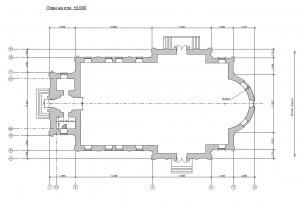 План и размеры храма в честь Рождества Пресвятой Богородицы г.Рославля