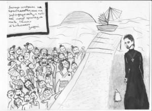 Святитель Николай Японский на берегу